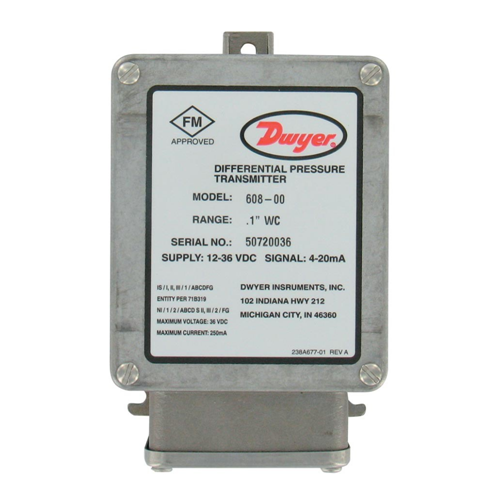 608 Intrinsically Safe Differential Pressure TransmitterAlpha Controls & Instrumentation Inc.
